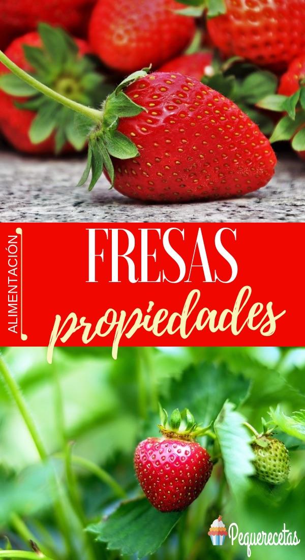 fresas con nata propiedades