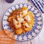Rape al horno con patatas y cebolla (receta FÁCIL y rápida)