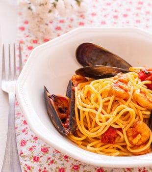 receta espaguetis a la marinera