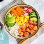 poke bowl hawaiano receta