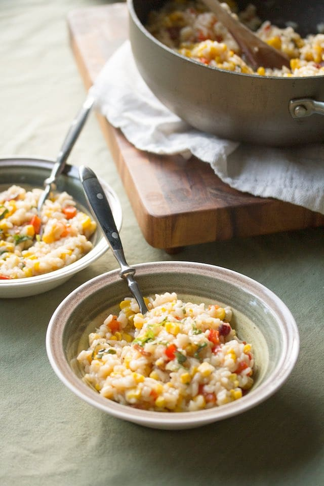 Risotto verduras Thermomix