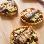 Tartaletas con pisto y Sardinas al Grill