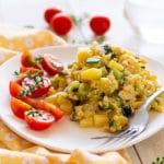 Zarangollo murciano, receta tradicional