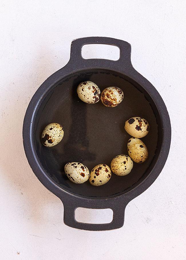 cocción huevos codorniz