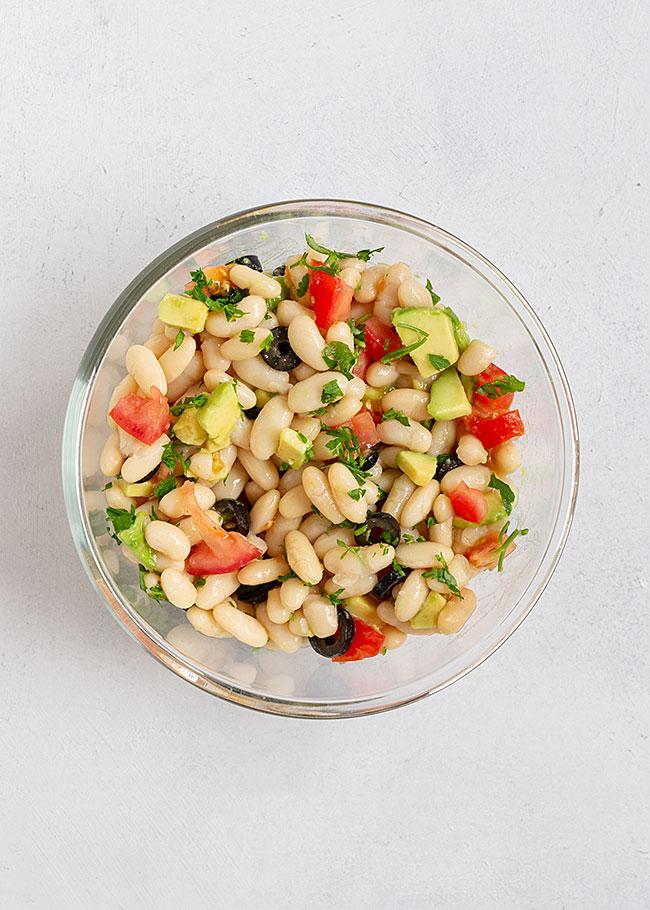 ingredientes ensalada de alubias