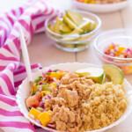 Ensalada Arcoíris de Atún Ligero con quinoa, aguacate y mango