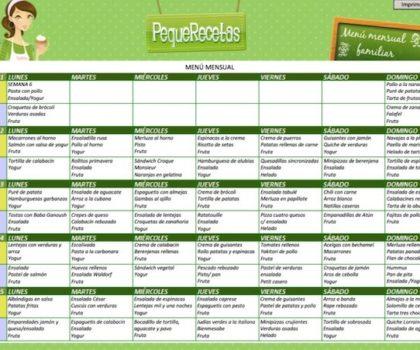 menu para una semana economico