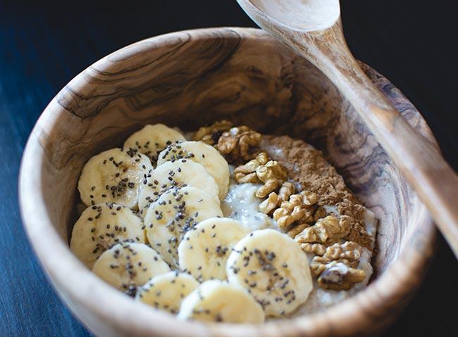 receta de gachas de avena con chia