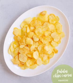 como hacer patatas fritas chips caseras
