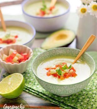 Gazpacho de aguacate receta