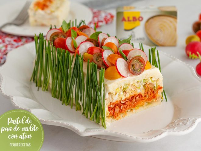 pastel de atun con pan de molde