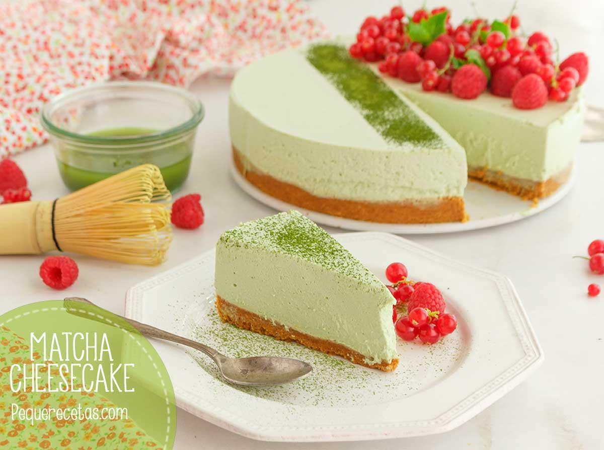 como hacer cheesecake matcha receta