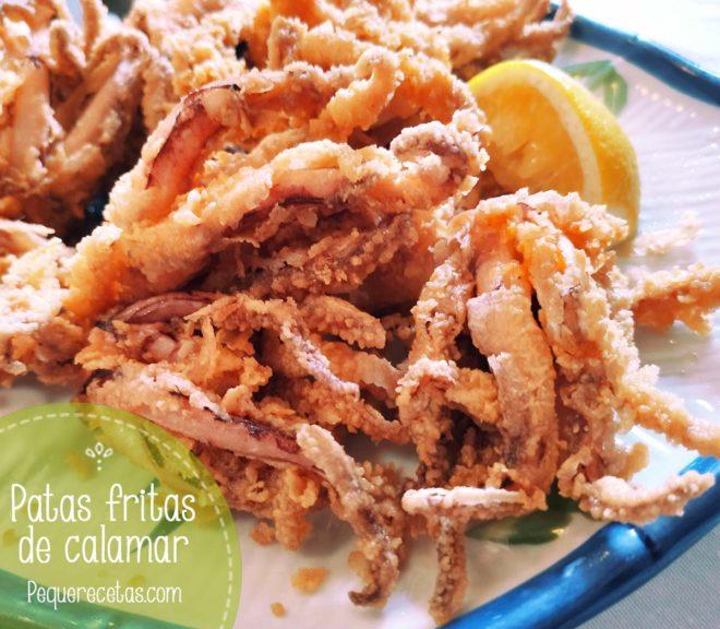 patas de calamar fritas y rebozadas
