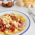 huevos rotos con jamon receta