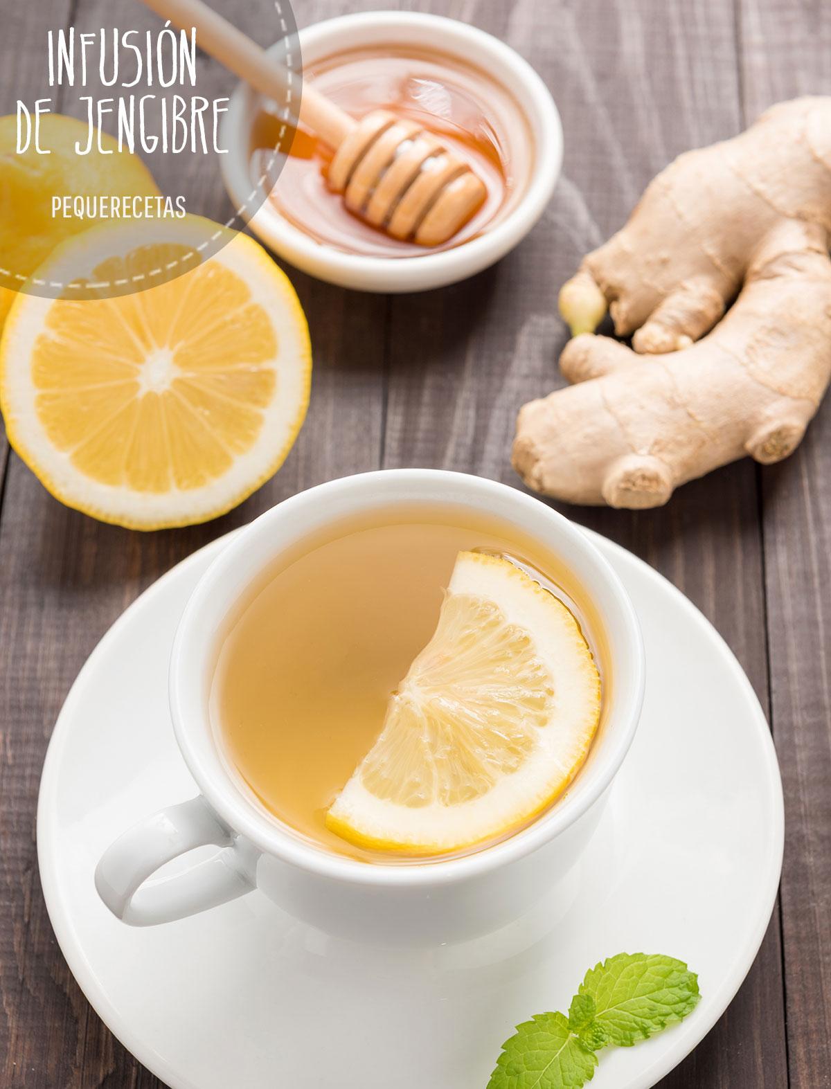 té de jengibre con limon y miel