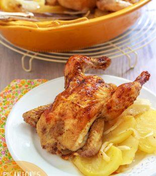 pollos picantones al horno receta
