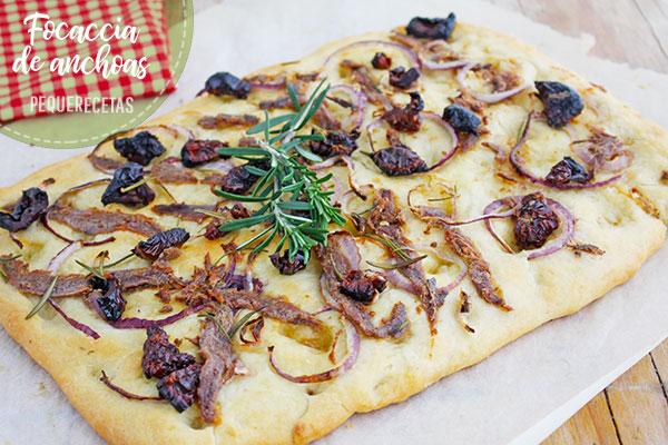 focaccia con anchoas receta