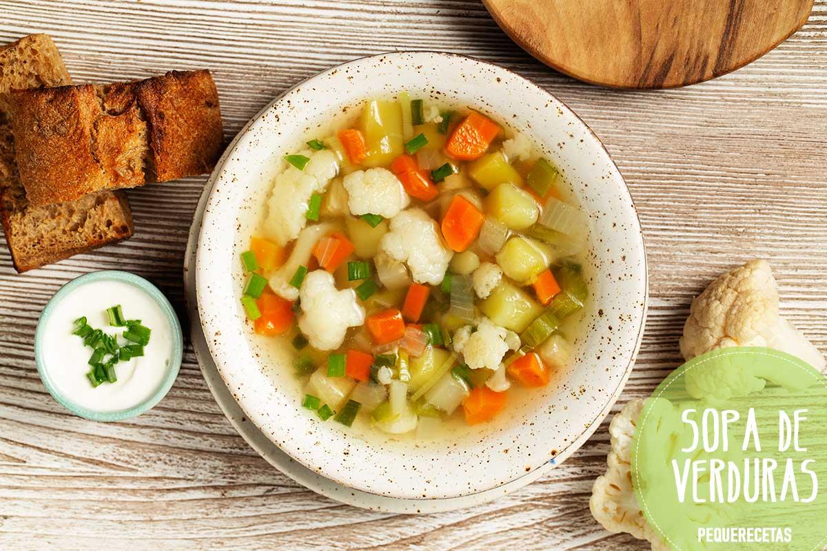 Recetas de sopa de verduras