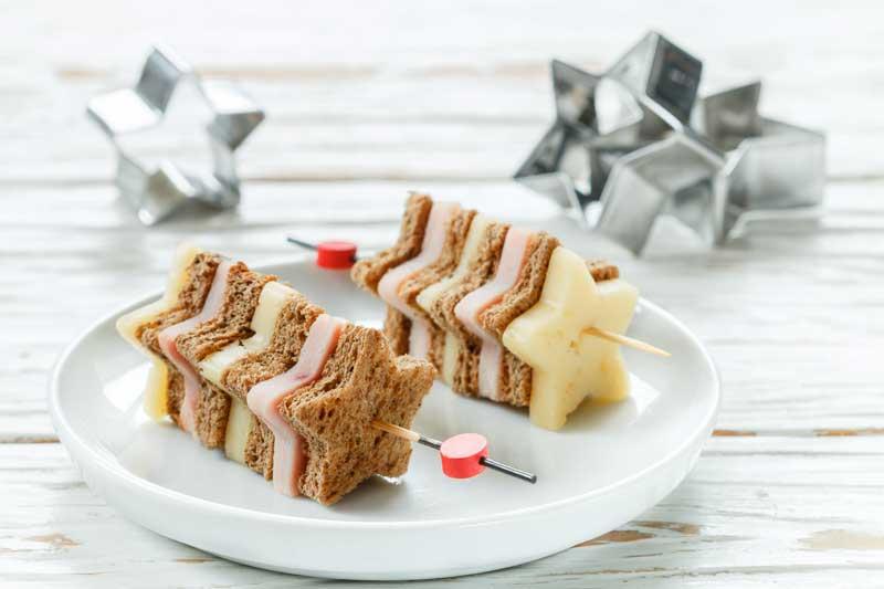 aperitivos de navidad con pan de molde