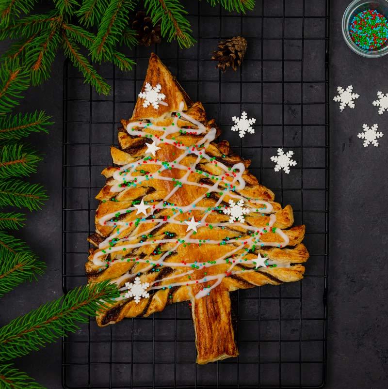 receta de árbol de Navidad de hojaldre