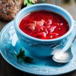 Borsch sopa de remolacha rusa