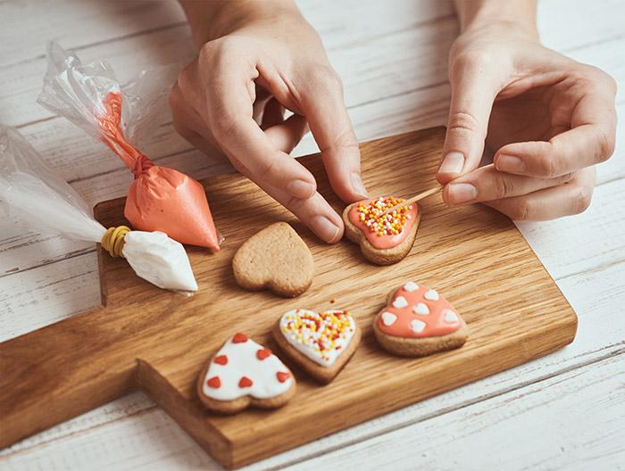 Decorar galletas de San Valentín