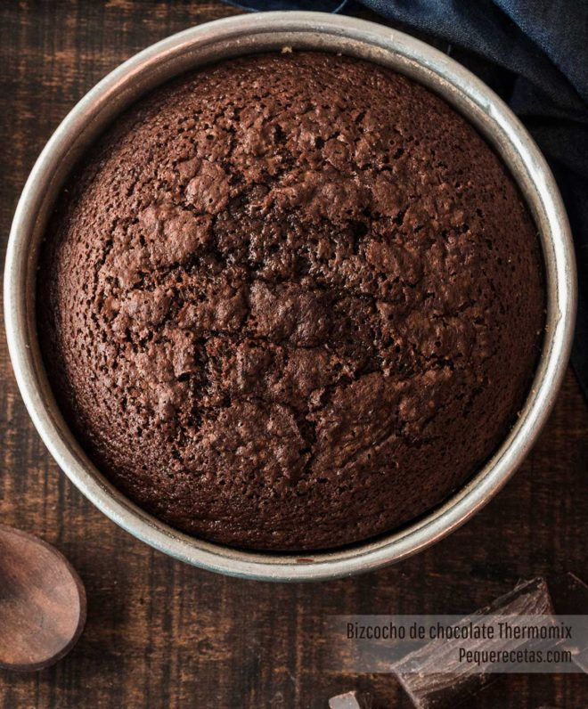 bizcocho de chocolate thermomix receta
