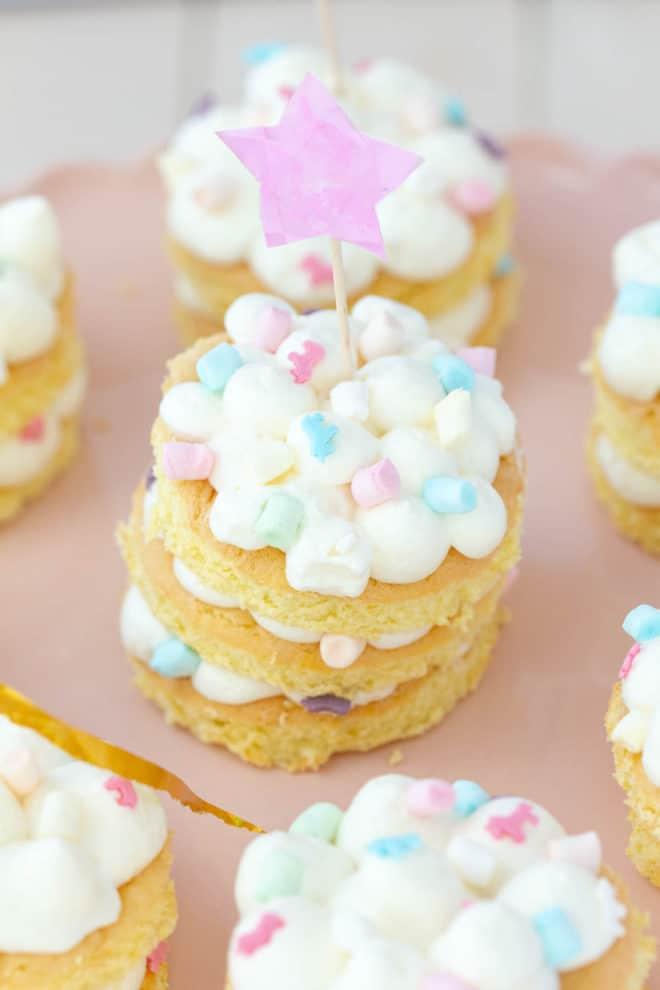 Mini Tartas rellenas de crema pastelera y mermelada