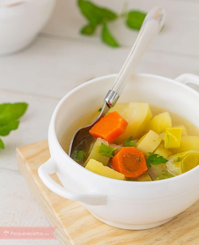 porrusalda receta sopa de puerros