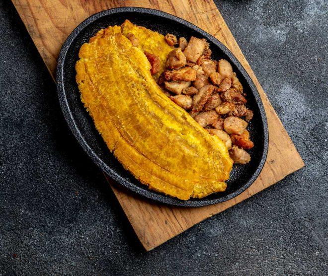 Patacones plátano frito