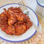 Conejo guisado con tomate receta