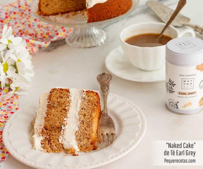 naked cake con té earl grey
