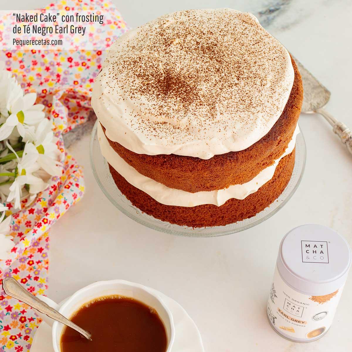 receta de naked cake con frosting