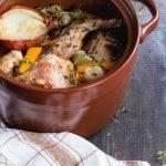 Receta de guiso de conejo con verduras