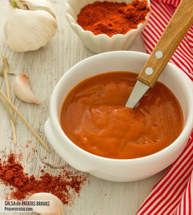 salsa de patatas bravas casera receta
