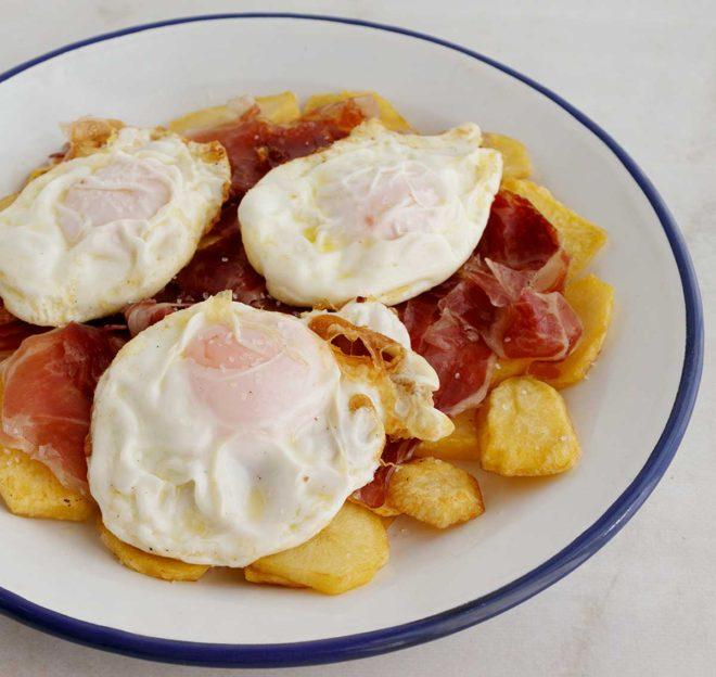 huevo frito receta